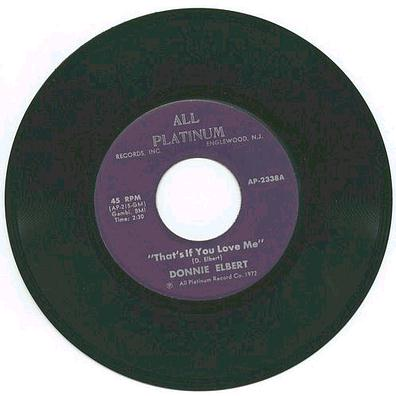 Donnie Elbert - That's If You Love Me - All Platinum