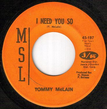 TOMMY McLAIN - I NEED YOU SO - MSL