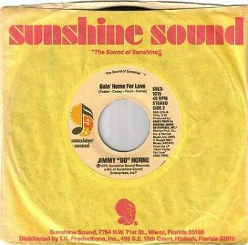 """JIMMY """"BO"""" HORNE - GOIN' HOME FOR LOVE - SUNSHINE SOUND"""