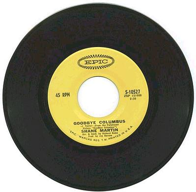 SHANE MARTIN - Goodbye Columbus - EPIC