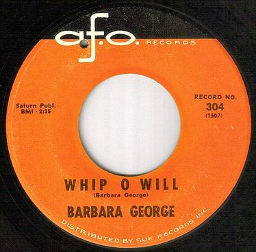 BARBARA GEORGE - WHIP O WILL - AFO