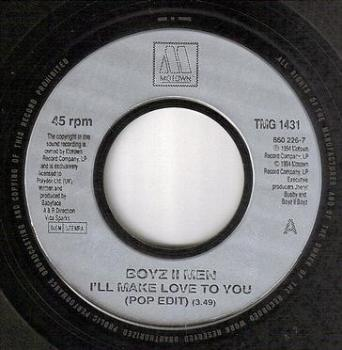 BOYZ II MEN - I'LL MAKE LOVE TO YOU - TMG 1431