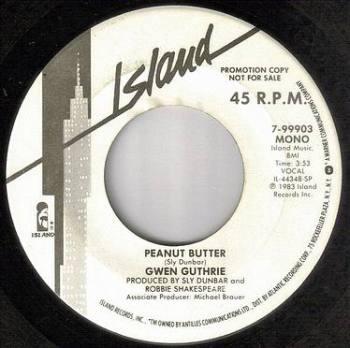 GWEN GUTHRIE - PEANUT BUTTER - ISLAND DEMO