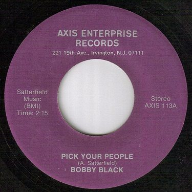 BOBBY BLACK - PICK YOUR PEOPLE - AXIS