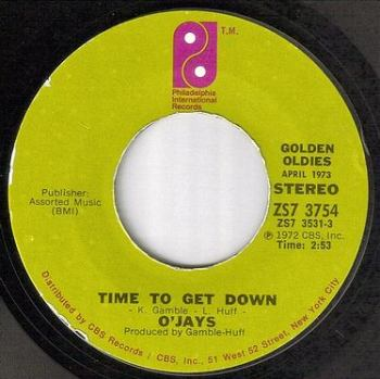 O'JAYS - TIME TO GET DOWN - PIR