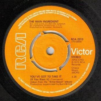 MAIN INGREDIENT - YOU'VE GOT TO TAKE IT - RCA