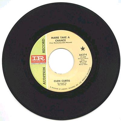 CLEM CURTIS - Marie Take A Chance - Imperial DJ