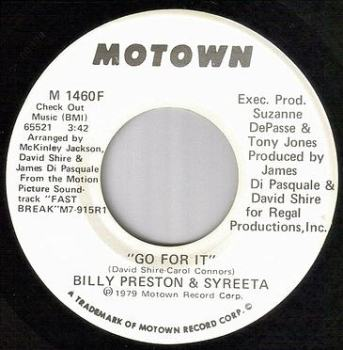 BILLY PRESTON & SYREETA - GO FOR IT - MOTOWN dj