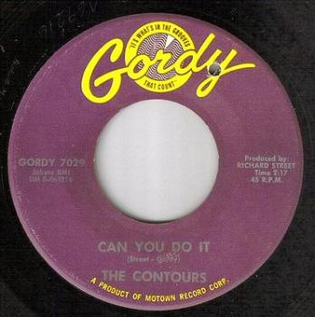CONTOURS - CAN YOU DO IT - GORDY