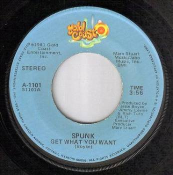 SPUNK - GET WHAT YOU WANT - GOLD COAST