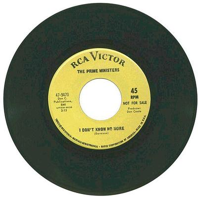 Prime Ministers - I Don't Know No More - RCA DJ