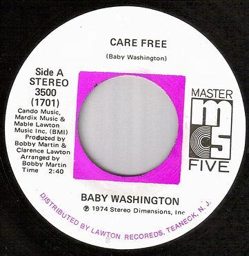 BABY WASHINGTON - CARE FREE - MASTER FIVE