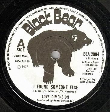LOVE DIMENSION - I FOUND SOMEONE ELSE - BLACK BEAR dj