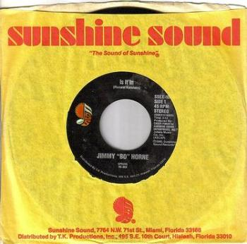 "JIMMY ""BO"" HORNE - IS IT IN - SUNSHINE SOUND"
