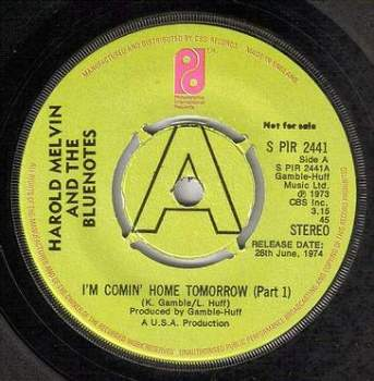 HAROLD MELVIN - I'M COMIN' HOME TOMORROW - PIR DEMO