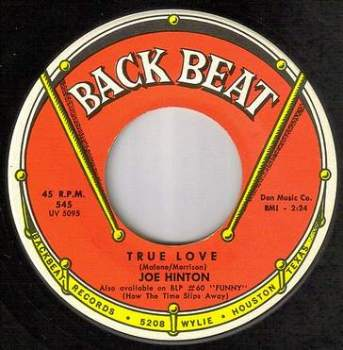 JOE HINTON - TRUE LOVE - BACK BEAT