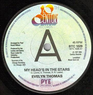 EVELYN THOMAS - MY HEADS IN THE STARS - UK 20TH CENTURY