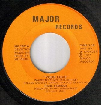RARE ESSENCE - YOUR LOVE - MAJOR