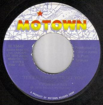 YVONNE FAIR - IT'S BAD FOR ME TO SEE YOU - MOTOWN