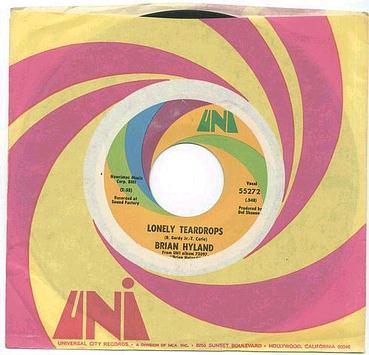 BRIAN HYLAND - Lonely Teardrops - UNI