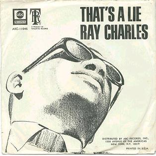 RAY CHARLES - THAT'S A LIE - ABC P/S