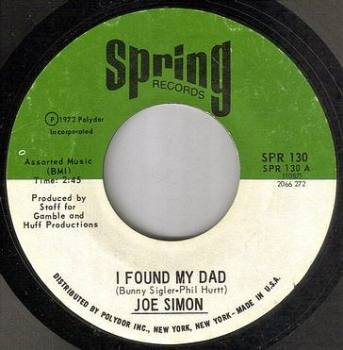 JOE SIMON - I FOUND MY DAD - SPRING