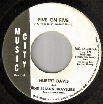 HUBERT DAVIS and THE SEASON TRAVELERS - FIVE ON FIVE - MUSIC CITY