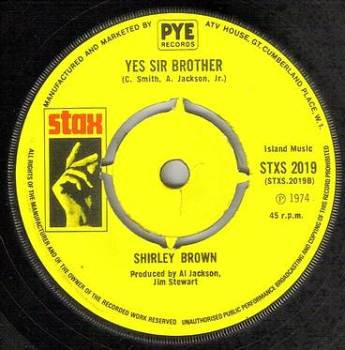 SHIRLEY BROWN - YES SIR BROTHER - STAX
