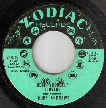 RUBY ANDREWS - HELP YOURSELF (LOVER) - ZODIAC