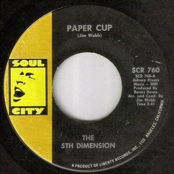 5TH DIMENSION - PAPER CUP - SOUL CITY