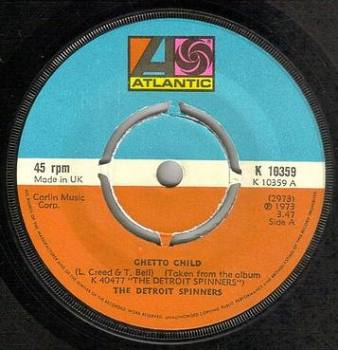 DETROIT SPINNERS - GHETTO CHILD - ATLANTIC
