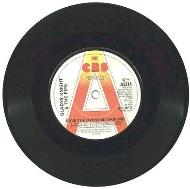 GLADYS KNIGHT & PIPS - SAVE THE OVERTIME FOR ME - UK CBS DJ
