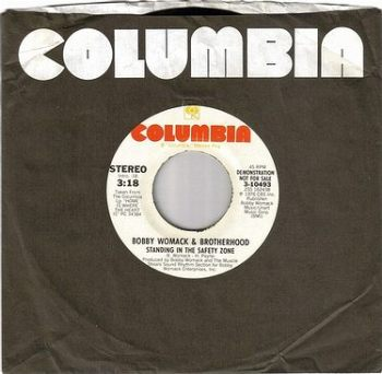 BOBBY WOMACK - STANDING IN THE SAFETY ZONE - COLUMBIA DEMO