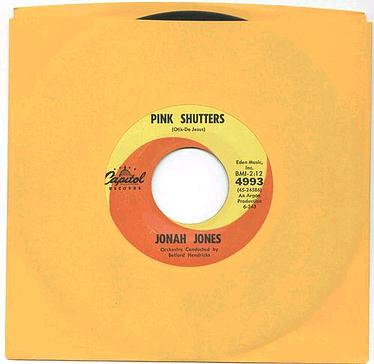 JONAH JONES - PINK SHUTTERS - CAPITOL