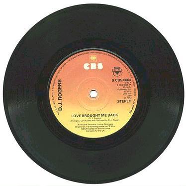 DJ Rogers - Love Brought Me Back - UK CBS