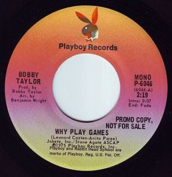 BOBBY TAYLOR - WHY PLAY GAMES - PLAYBOY DEMO