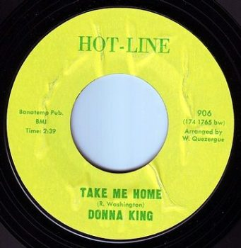 DONNA KING - TAKE ME HOME - HOT LINE
