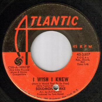 SOLOMON BURKE - I WISH I KNEW - ATLANTIC