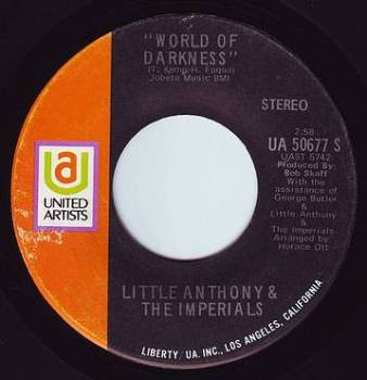 LITTLE ANTHONY & THE IMPERIALS - WORLD OF DARKNESS - UA