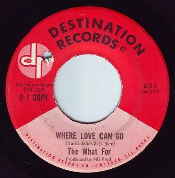 WHAT FOR - WHERE LOVE CAN GO - DESTINATION DEMO