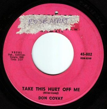DON COVAY - TAKE THIS HURT OFF ME - ROSEMART