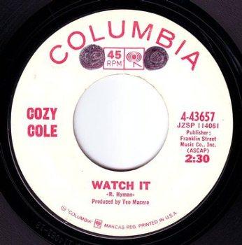 COZY COLE - WATCH IT - COLUMBIA DEMO