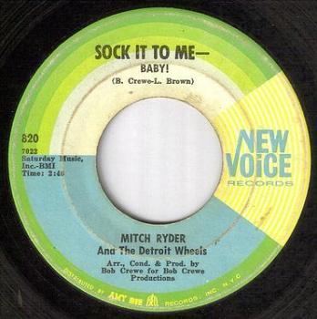 MITCH RYDER - SOCK IT TO ME BABY - NEW VOICE