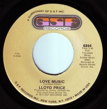 LLOYD PRICE - LOVE MUSIC - GSF