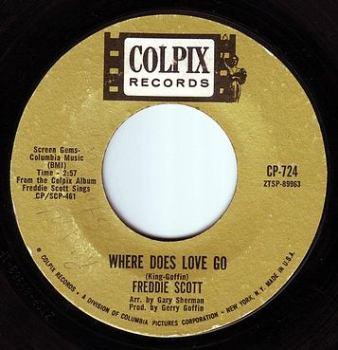 FREDDIE SCOTT - WHERE DOES LOVE GO - COLPIX