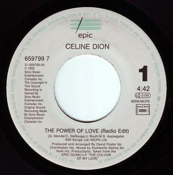 CELINE DION - THE POWER OF LOVE - EPIC