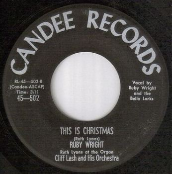 RUBY WRIGHT - THIS IS CHRISTMAS - CANDEE
