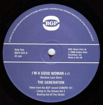 THE GENERATION - I'M A GOOD WOMAN - BGP