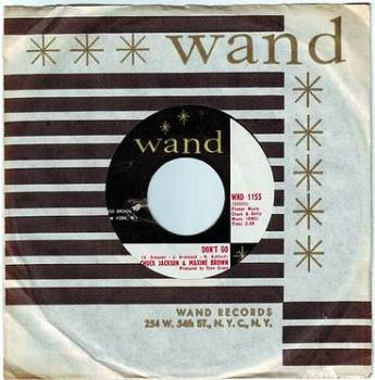 CHUCK JACKSON & MAXINE BROWN - DON'T GO - WAND