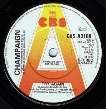 CHAMPAIGN - TRY AGAIN - CBS DEMO